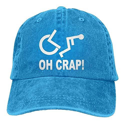 SDFRG Crap Handicap Silla de Ruedas Vintage Jeans Gorra de béisbol Ajustable Algodón Denim Hat