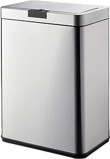 Poubelle de cuisine automatique design 60L DAYTONA en acier INOX avec cerclage