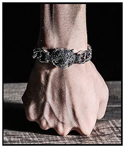 925 zilveren armband sieraden tijger hoofd mannen armband, domineering armband sieraden accessoires ketting vriend cadeau souvenir