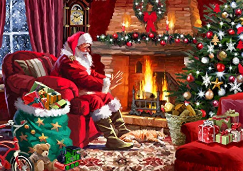 Warm Christmas Santa Claus Jigsaw Puzzles, Puzzle for Adults 500 Pieces, Quality Painting Puzzles Educational Game