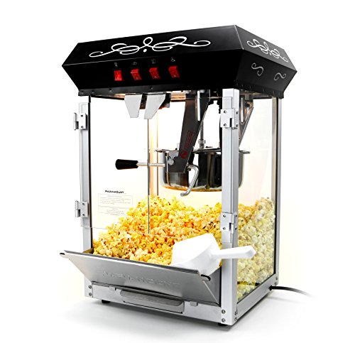 Paramount 8oz Popcorn Maker Machine - New Upgraded Feature-Rich 8 oz Hot Oil Popper [Color: Black]