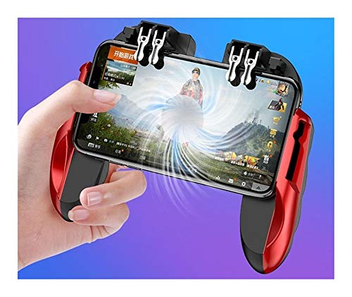 Zceras Gamepad Controlador Manual Gamepad (Colore : Red Built in Fan)