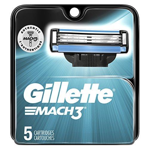 Gillette Mach3 Men's Razor Blade Refills, 5 Count