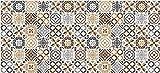 TIENDA EURASIA - Alfombra Multiusos Vinílica, Anti-Manchas, Anti-Deslizante, Material PVC con Efecto Relajante. Ideal para Salón, Dormitorio, Cocina, Pasillos (55 x 190 cm)