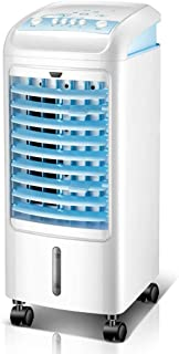 Kücheks Mini Ventilador de Aire Acondicionado portátil, Ventilador de enfriamiento USB Enfriadores evaporativos con deshumidificador Ventilador de Escritorio frío Simple-Blanco