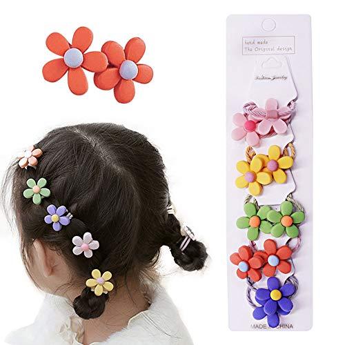 10 Haarspangen für kleine Mädchen, Haar-Accessoires-Set für Kleinkinder, Kinder, Haarschleifen,für Kinder Geburtstagsgeschenk Kindertagsgeschenk (Blume)