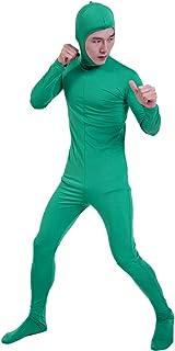 コスチューム 全身タイツ 緑色 メンズ Mサイズ 顔部分があいている 着ぐるみ (SS03-2H)