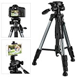 K&F Concept 56''Compact Lightweight Travel Portable Camera Tripod with Phone...
