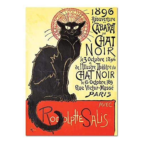 Giallobus - Quadro - Henri de Toulouse-Lautrec - Il Gatto Nero - Vetro Acrilico Plexi - 50x70 - Pronto da Appendere - Quadri Moderni per la casa