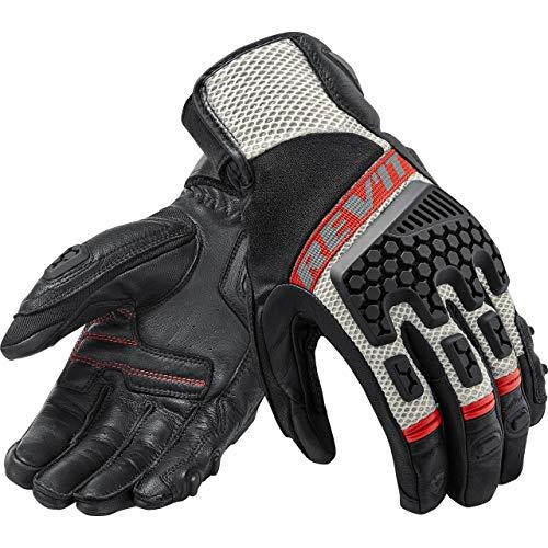 REV'IT! Motorradhandschuhe kurz Motorrad Handschuh Sand 3 Handschuh schwarz/rot M, Unisex, Tourer, Sommer, Leder/Textil