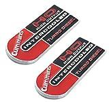 2 Pack Cummins High Output Intercooled Turbo Diesel Metal Emblem 3D Badges Nameplate Letter compatible with 2500 3500 ((Black Red))