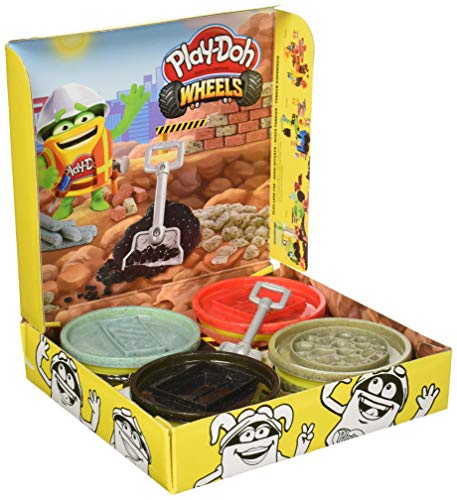 Play-Doh Wheels Buildin' Compound 4-Pack Bundle of Extra Large Cans, 4 Non-Toxic Colors JungleDealsBlog.com