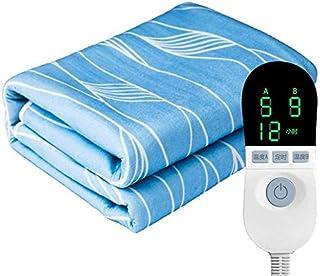 FEE-ZC Supervivencia Acampar Manta eléctrica Manta eléctrica Doble Subterráneo de Calor Control Doble 1-12 Ajuste de Tiempo pequeño Calefacción rápida Calefacción con protección