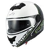 Astone Helmets rt800-line-gwl Casco Moto RT 800LINETEK, Verde/Bianco