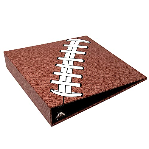 Pigskinz 3-Ring Football Card Binder | Looks and Feels Like a Real Football | Premium Embossed Paper Football Card Protection Album with Patented Design