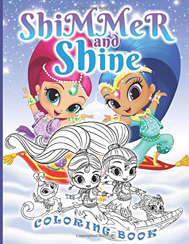 Shimmer And Shine Coloring Book: Shimmer And Shine Adult Coloring Books For Men And Women Colouring Page