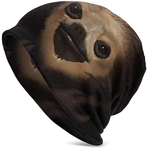 Peeeenny Beeen Monk Men´s Daily Beanie, warme, lässige, weiche Kopfbedeckung, ganzjähriger, schwere Mützen, dünne Skull Cap Baggy Oversize Strickmütze. Schwarz