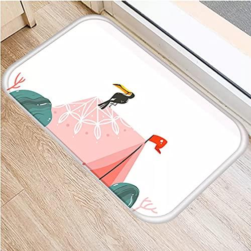 N/A Felpudo Entrada Alfombrillas de Playa Alfombra de baño Alfombra para el hogar Alfombra Felpudo Puerta de Entrada para Cocina Decorar alfombras para el hogar felpudos groot-20x28 Inch