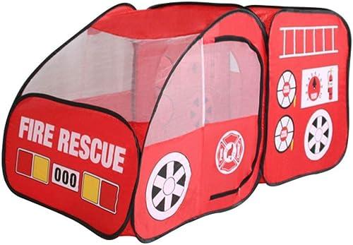 FANG1106 Baukasten Bauen Sie auf und Spielen Sie lustiges S Kinder Feuerwehrauto Toy House zuhause oder im Freien & Spiel Zelt Baue und Spiele lustige Spielzeuge für Kinder