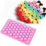 Allforhome – Molde de silicona con diseño de corazón para piruletas, jabones, bombones de chocolate
