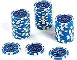 50 Fichas Poker Chips Profesionales láser Núcleo metálico 12 g Póquer Texas Hold`em Black Jack Roulette Fichas Reflectantes Jetons Casino 1 Valor de Rollo Seleccionable 1-10000