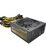 Bitcoin Modular Mining MAX 2000W Fuente de alimentación de Escritorio PSU PFC Silent Fan ATX 24pin Bronce PC SATA Gaming PC Fuente de alimentación para 8 GPU GTX 1050 1060 1080 Eth Rig Ethereum Miner