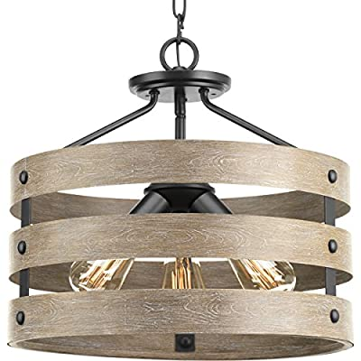 Progress Lighting P350049-143 Gulliver Three-Light Semi-Flush Convertible