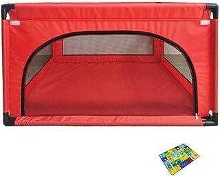 子供用セーフティフェンスキッズベビーアウトドアセーフティゲームプレイヤー、120×120×68cm (色 : Red)
