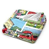 Clifford The Big Red Dog Blanket Soft Flannel Blankets All Season for Sofa Bed Couch for boys girls 50'X40'