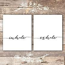 Inhale Exhale Wall Art Prints - (Set of 2) - Unframed - 8x10 | Inspirational Wall Art