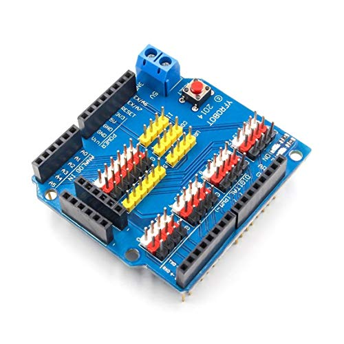 SeniorMar-UK Sensor Shield Erweiterungskarte Shield Für Arduino UNO R3 V5.0 Elektronikmodul Sensor Shield V5 Erweiterungskarte
