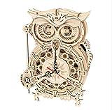 PROVO Orologio Gufo, Owl Clock Puzzle 3D in Legno, Kit di Costruzione Modello Fai-da-Te, Puzzle Artigianale Regalo per Bambini e Adulti