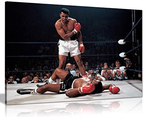 Muhammad Ali Boxing Sonny Liston Leinwand-Kunstdruck, 76,2 x 50,8 cm