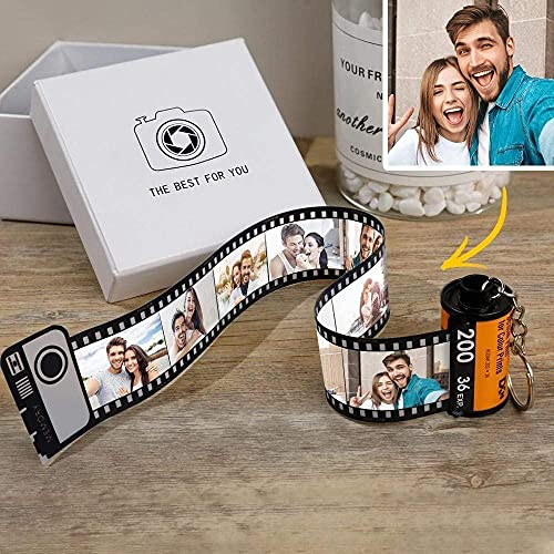 Personalized Keychains with Picture Multiphoto Camera Roll keychain Photo Reel Album Frame Key Rings Best Gift for Lovers Friends Family Baby