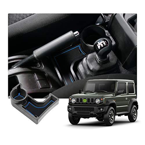 SKTU JIMNY JB64 JB74 AT Auto scatola dedicata per bracciolo del pallet box accessori con tappetino in gomma (blu)