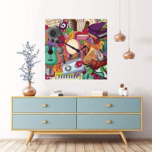 Cuadro moderno para pared, diseño de grafiti con texto en inglés 'No marca', para salón, dormitorio, baño, decoración de pared lista para colgar 40,6 x 40,6 cm