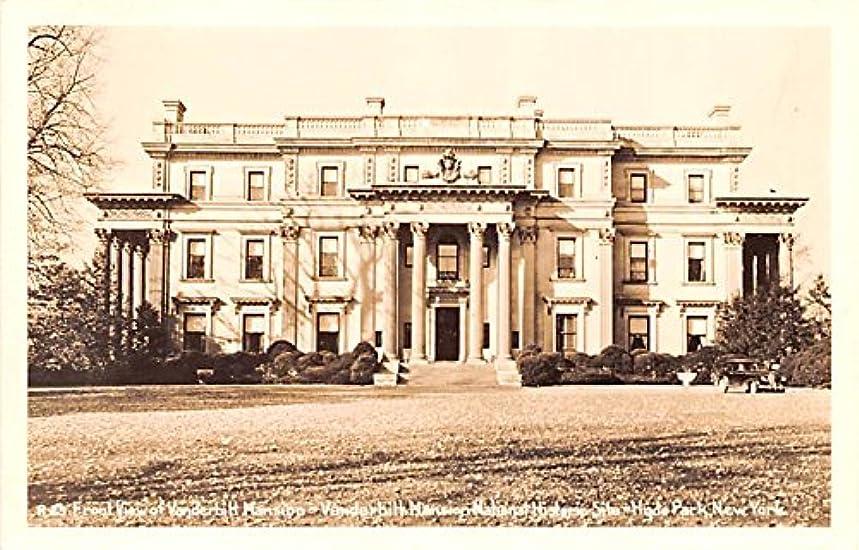 Front View of Vanderbitt Mansion Hyde Park, New York postcard