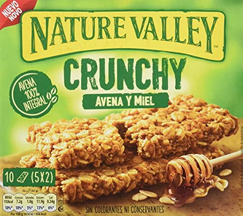Nature Valley Crunchy Avena y Miel Barrita de Cereales, 5 x 42g