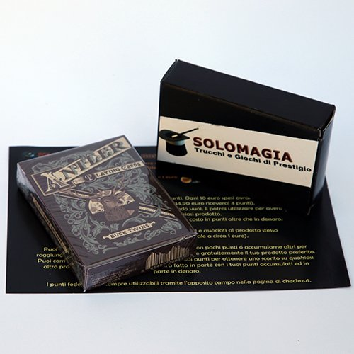 SOLOMAGIA Antler Playing Cards (Maroon) by Dan and Dave - Tours et Magie Magique