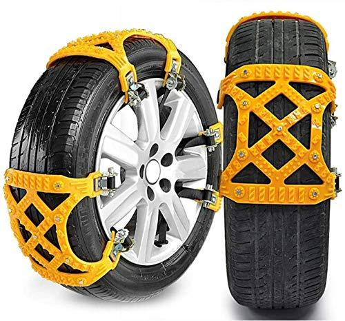 1 Unidad de neumático de Cadena de Nieve para Coche de Invierno, Cadena de neumático de Nieve Cruzada para Coche multifunción Universal, la mayoría de los Coches SUV