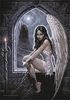 signs-unique Gothic Captive Angel large fabric poster / flag 1100mm x 750mm (hr)