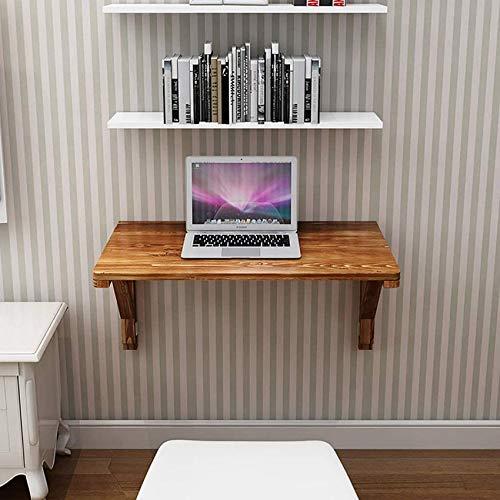 Living Equipment Soporte doble Mesa montada en la pared Banco de trabajo plegable de madera de pino Mesa de hojas abatibles Cocina Mesa de comedor Escritorio de computadora Banco Mesa Mesa de estud