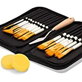 Artify 2019 New 15 Pcs Paint Brush Set Includes Pop-up Carrying Case with Free...