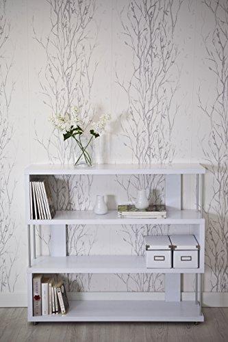 Intradisa 6702 - Libreria con sbarre, 98 x 110 x 28 cm, Colore Bianco