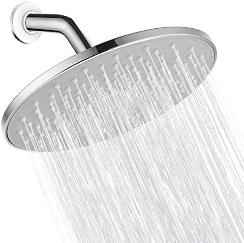Rain Shower Head VMASSTONE 9In High Pressure Showerhead Tool Free Installation with Large Spray product image