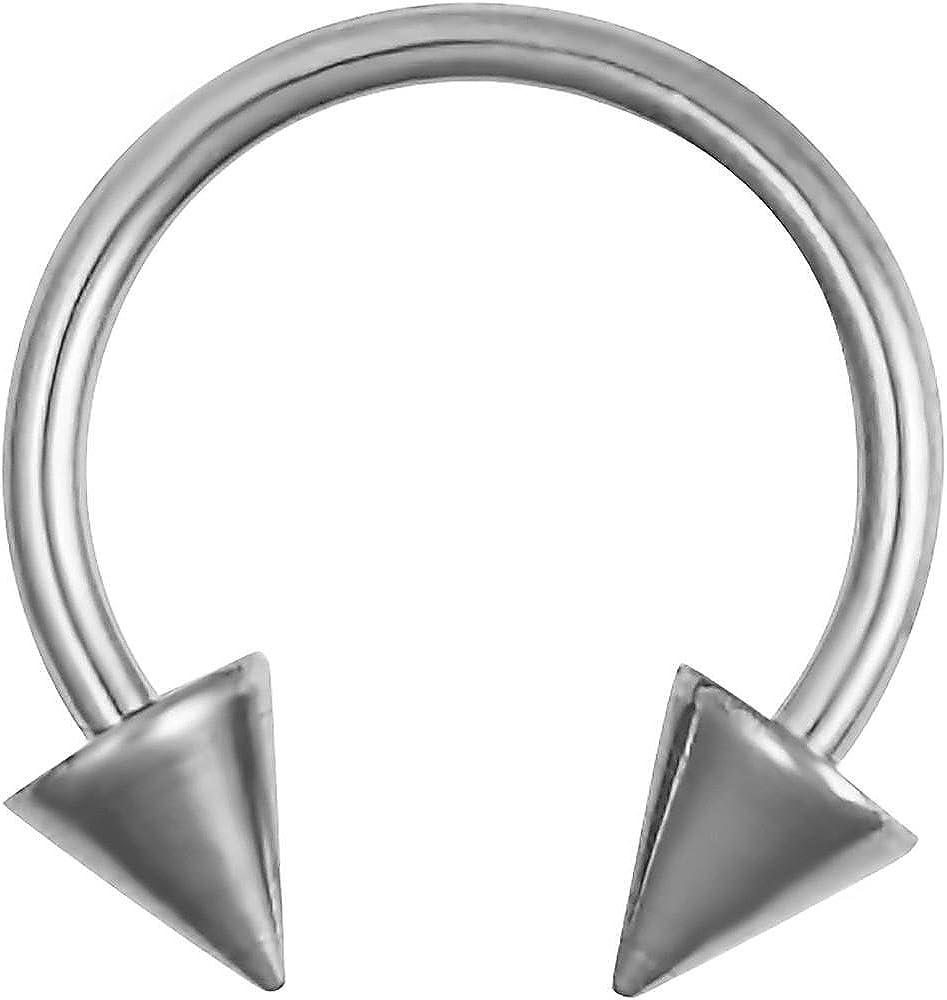 Forbidden Body Jewelry 16g Septum Ring - 16 Gauge 3/8
