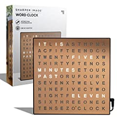 ✔ TELL TIME IN STYLE: The Sharper Image Word Clock Office Decor is the new way to tell time. Doubling as both a clock and an accent piece, the clock features a beautiful finish, generous yet compact desktop size, and a trendy design that features clu...