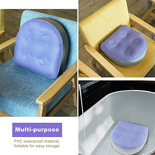 LOVIVER Hot Tub Booster Seat - Submersible Weighted Jacuzzi Spa Pillow - Washable Cushion Cover with Suction Cups -Bathtub Booster Seat, Back Support Bathtub Pillow for Jacuzzi, Hot Tub, Spa