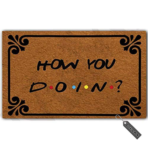 MsMr Doormat Entrance Mat - Funny Doormat - How You Doin...
