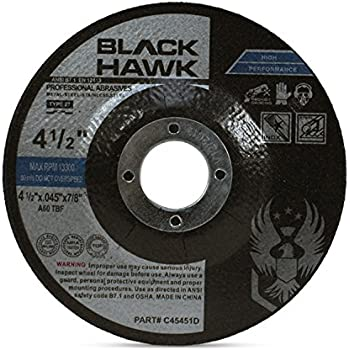 """BHA Metal and Stainless Steel Depressed Center Cut Off Wheels for Angle Grinders, 4.5"""" x .045"""" x 7/8"""" - 25 Pack"""